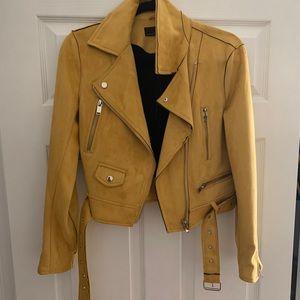 Zara yellow suede jacket